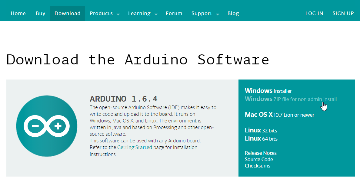 Download the Arduino Software