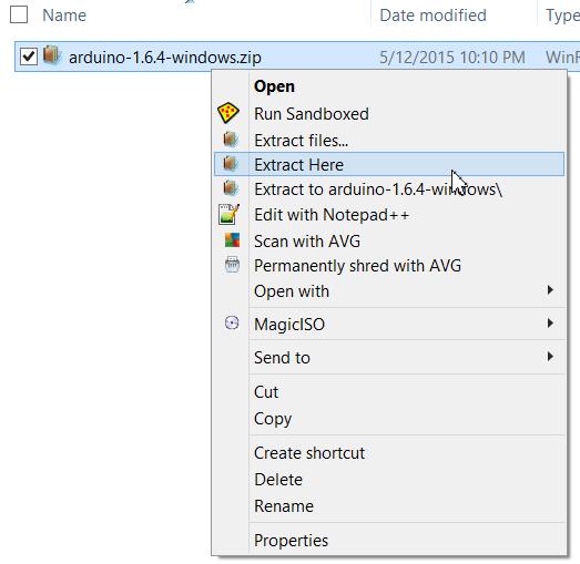 Cài Arduino 1.6.4