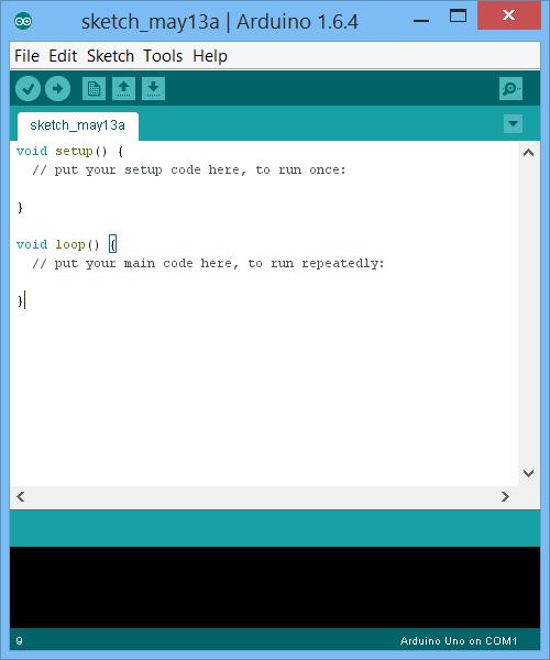 Giao diện sketch Arduino