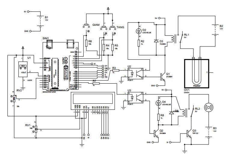 Sơ đồ mạch điện Arduino-Relay-Tải trở