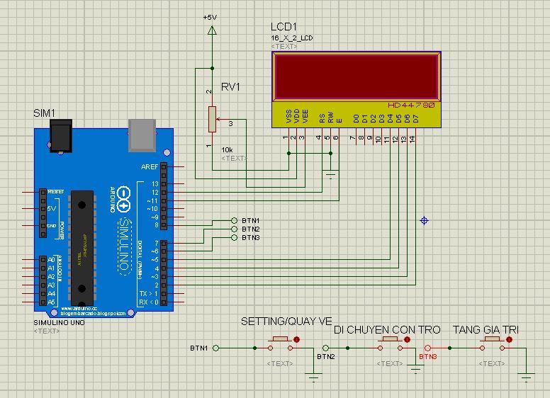 Lập trình nút nhấn và con trỏ LCD arduino