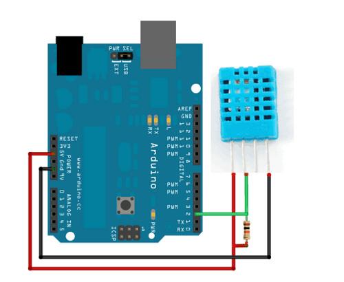 Sơ đồ kết nối Arduino-DHT11