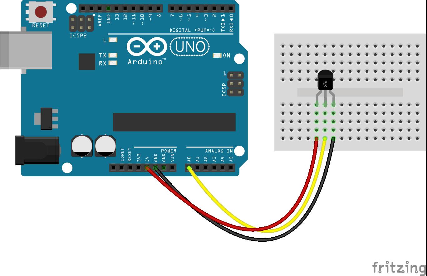 Đọc cảm biến LM35 dùng Arduino
