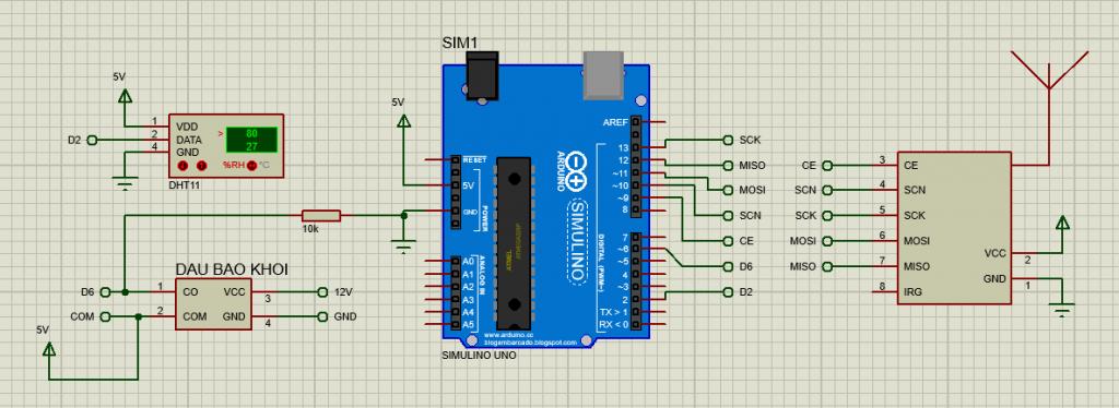 Sơ đồ mạch kết nối trạm phát RFID