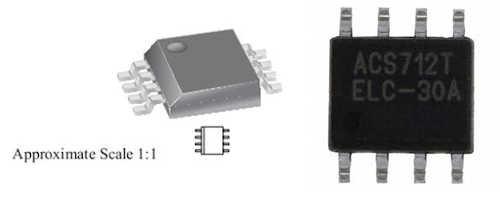 Đóng gói IC cảm biến dòng ACS712