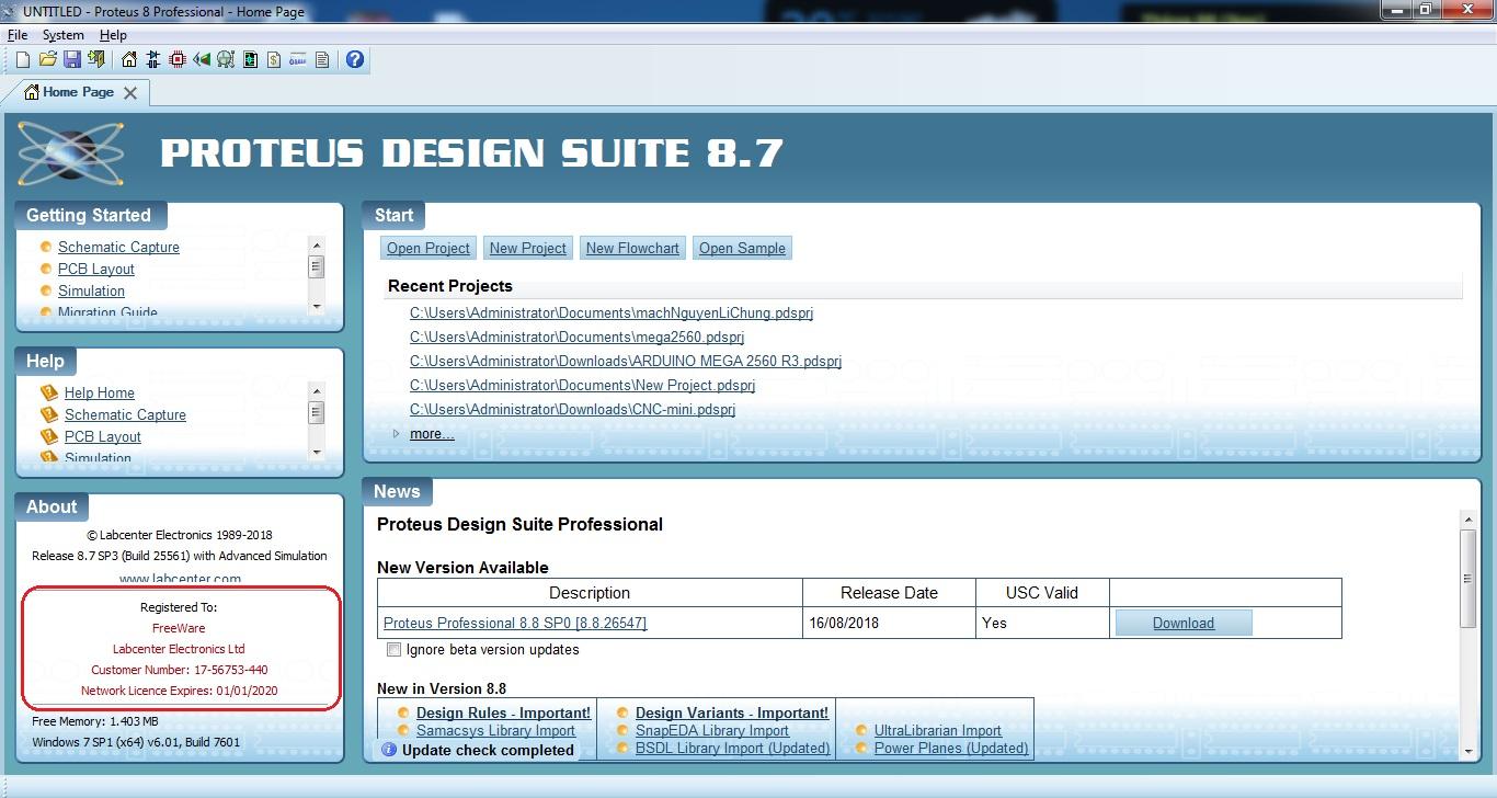 Hướng dẫn cài đặt Proteus Professional 8.7 chi tiết A-Z full key thành công
