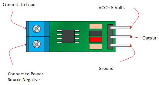 Sơ đồ chân Module ACS712