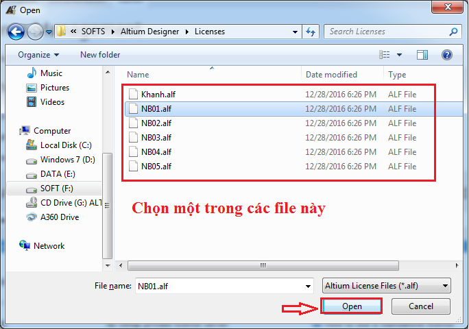 Kich hoạt phần mềm Altium 17.0.7