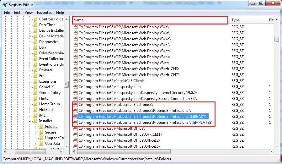 """Tìm và xóa các tệp tin có cột Name chứa từ khóa """"proteus"""""""
