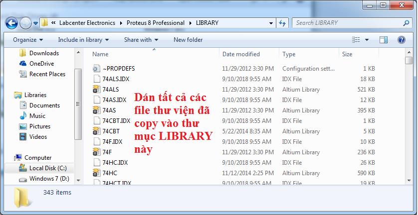 Add thư viện Proteus