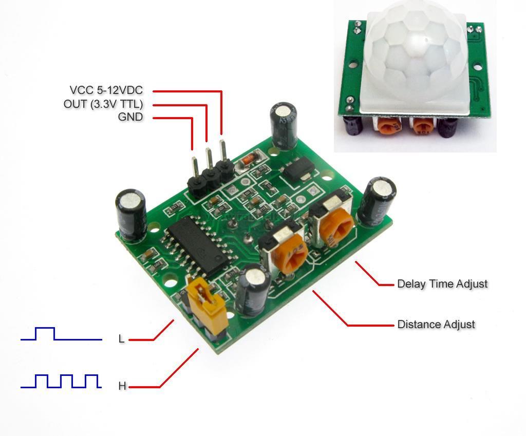 Module cảm biến chuyển động PIR