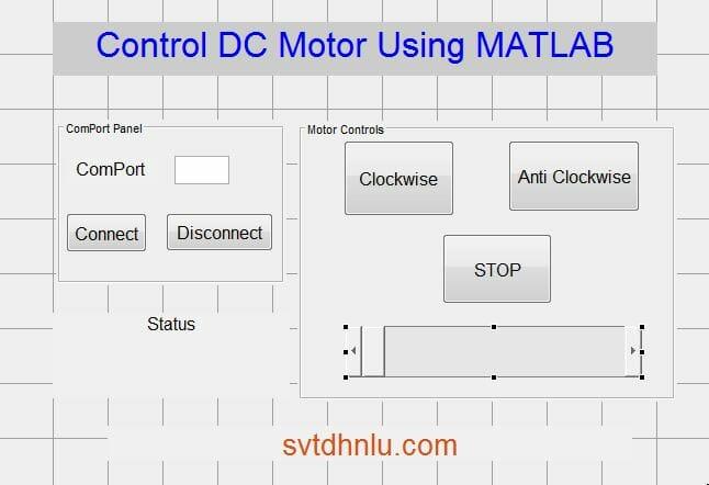 GUI MATLAB điều khiển động cơ DC