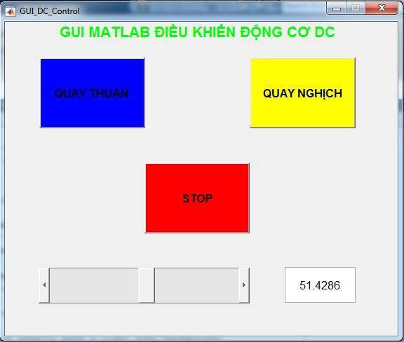 Lập trình GUI MATLAB điều khiển động cơ DC sử dụng cầu H L298D