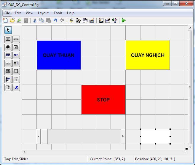 Giao diện GUI MATLAB cho điều khiển động cơ qua Arduino