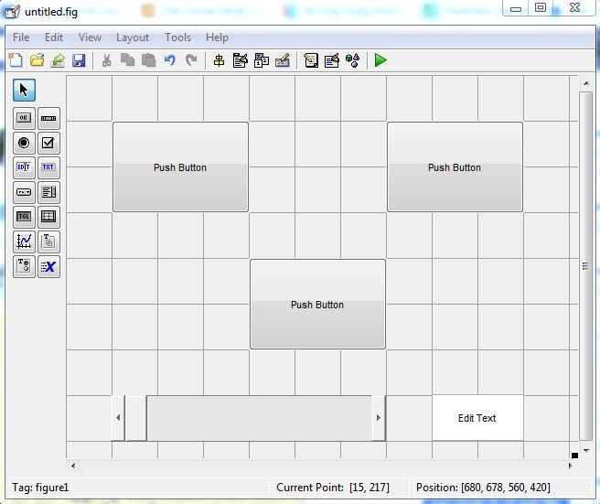 Thiết kế giao diện Matlab cho điều khiển động cơ