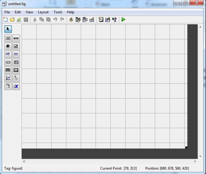 Giao diện biên tập GUI matlab 2018