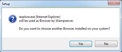 Install WampServer 3.1.9 mới nhất 64 bit bước 8: Nhấn chọn No