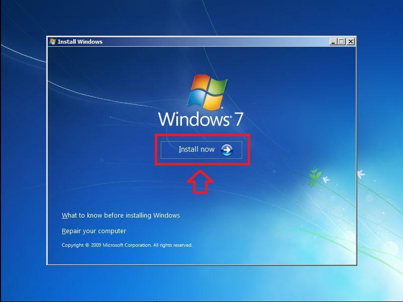Nhấn chọn Install Now