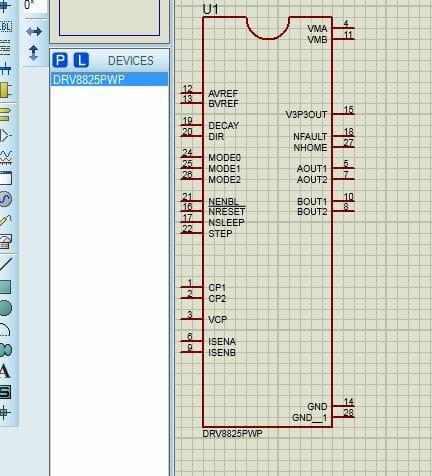 Kết quả add linh kiện DRV8825 cho Proteus 8.8