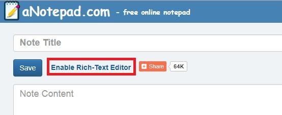 Cách chia sẽ link bị spam lên Facebook bước 1 click Enable Rich-Text Editor