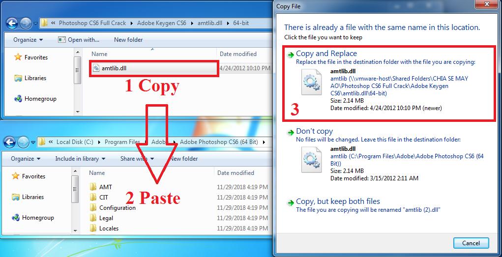 Cách kích hoạt key đối với bản Photoshop CS6 64bit trên Windows 64bit