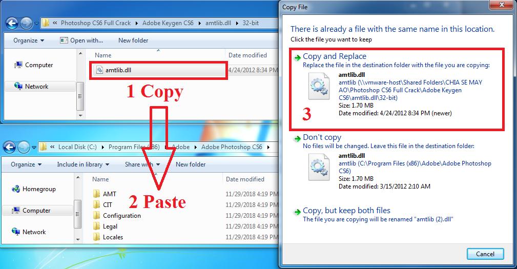Cách kích hoạt key đối với bản Photoshop CS6 32bit trên Windows 64bit