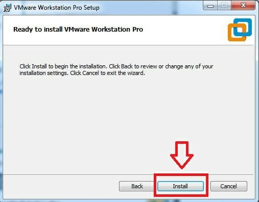 Cài đặt VMware Workstation Pro 15.0.1 bước 5: Chọn Install