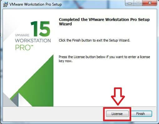 Tiến hành Crack VMare Workstation Pro mới nhất 15.1.0 bước 1: Chọn License