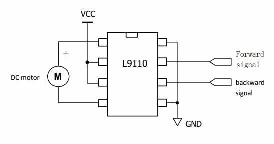 Mạch ứng dụng L9110 điều khiển động cơ DC Motor