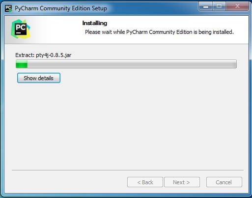 Quá trình cài đặt PyCharm Community Edition diễn ra