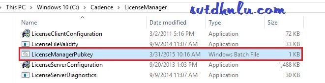 Chạy file LicenseManagerPubkey.bat