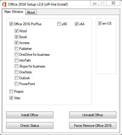 Hướng dẫn cài Microsoft Office 2016 với 1 click bước 1