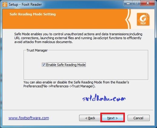 Cài đặt Foxit Reader v9.3 bước 6