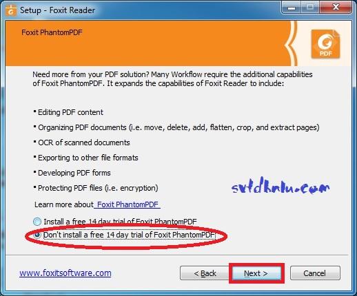 Cài đặt Foxit Reader v9.3 bước 7