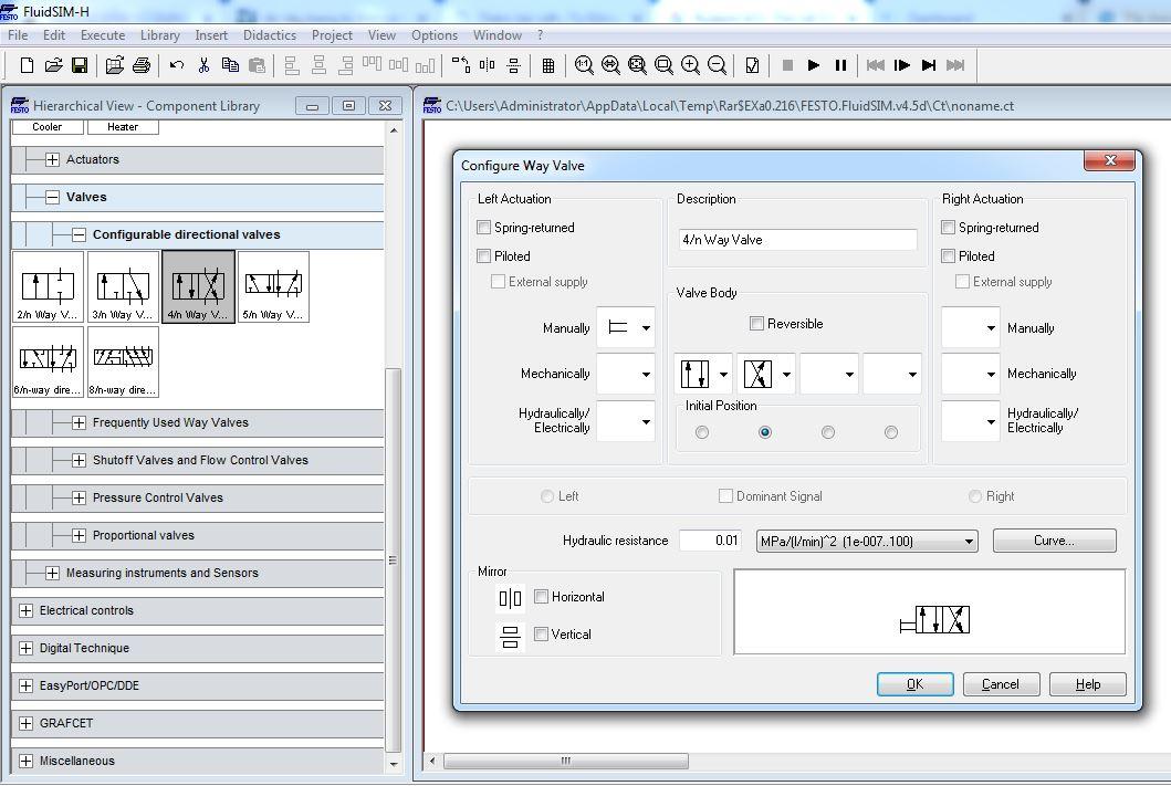 Phần mềm mô phỏng thủy lực khí nén FluidSim