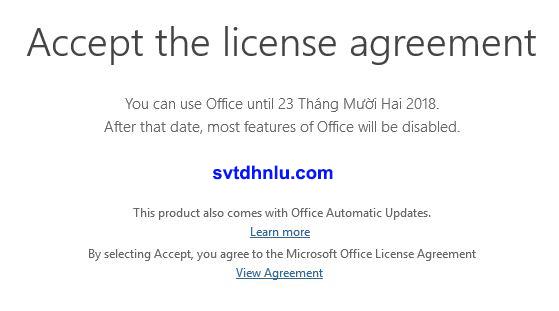 Sau khi cài đặt hoàn tất, Office 2019 sẽ được dùng thử trong thời gian khoảng 5 ngày