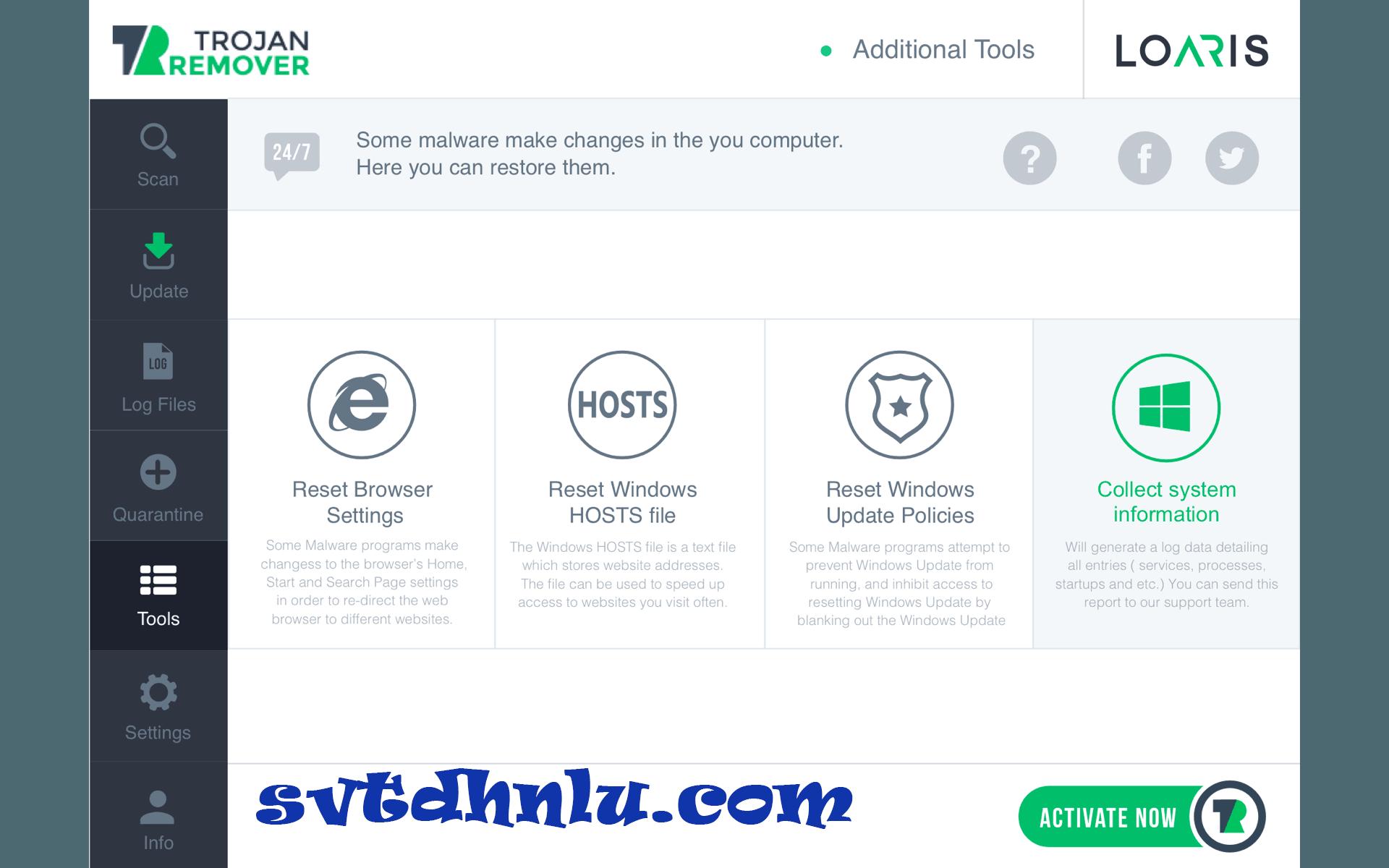 Download Loaris Trojan Remover - Diệt virus, trojan, bảo vệ máy tính