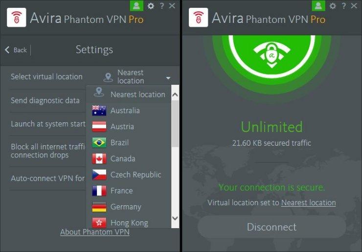 Download Avira Phantom VPN Pro crack
