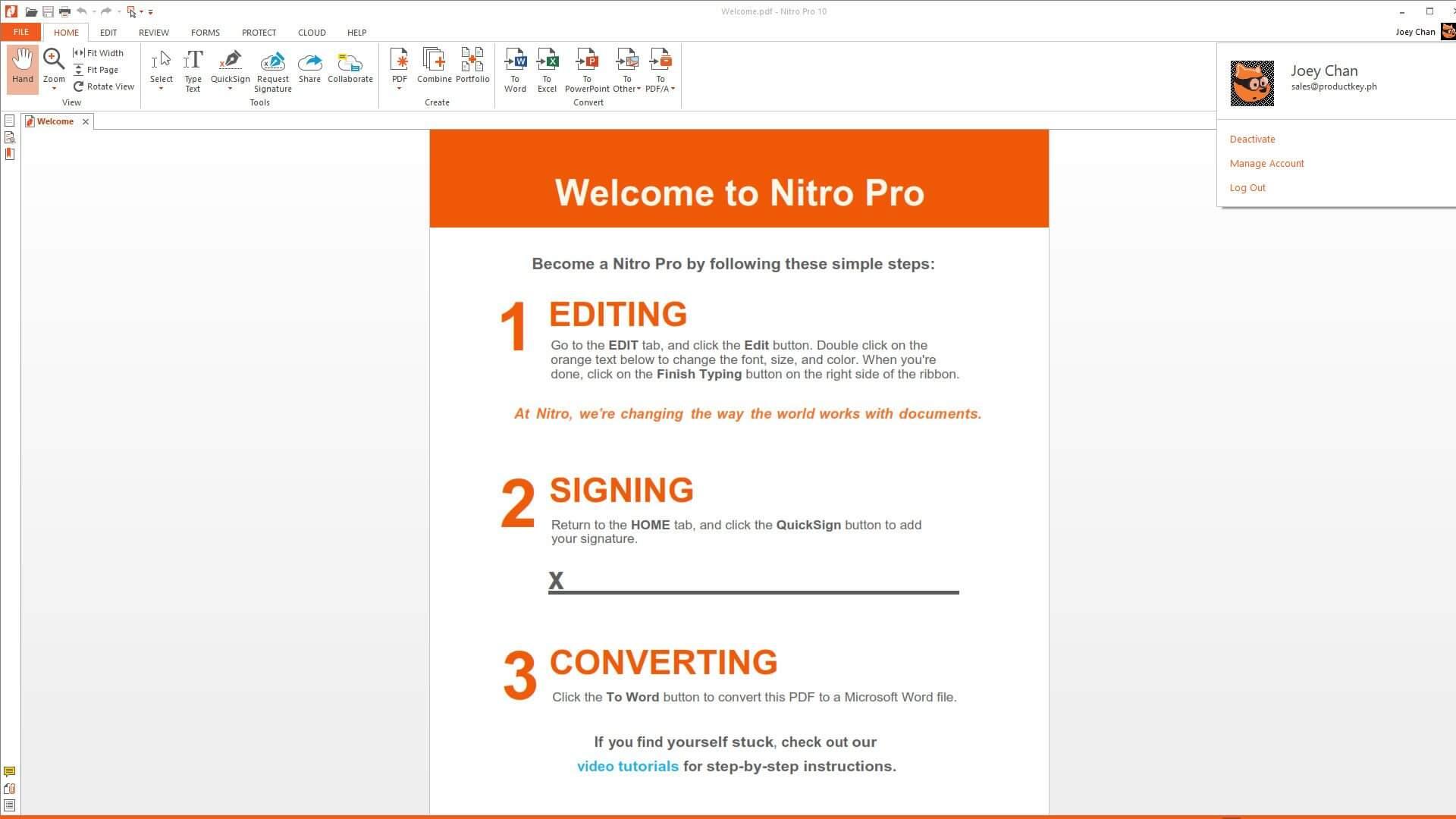 Download Nitro Pro 12 Full Key Crack moi nhat 2019 chinh sua bien tap file PDF tot nhat
