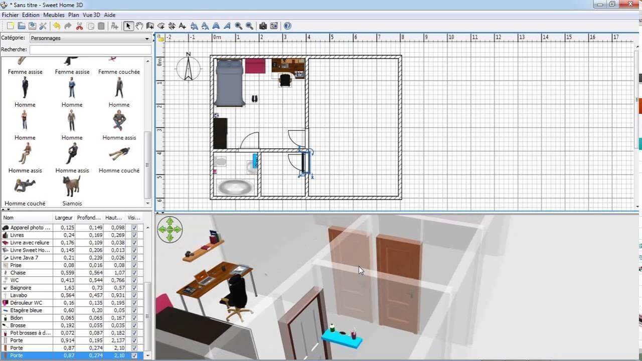 Download Sweet Home 3D - phan mem thiet ke noi that 3D mien phi