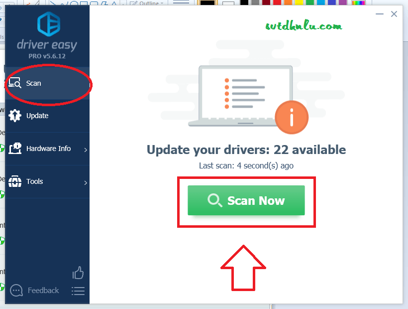 Cập nhật driver với driver easy 5.6.12