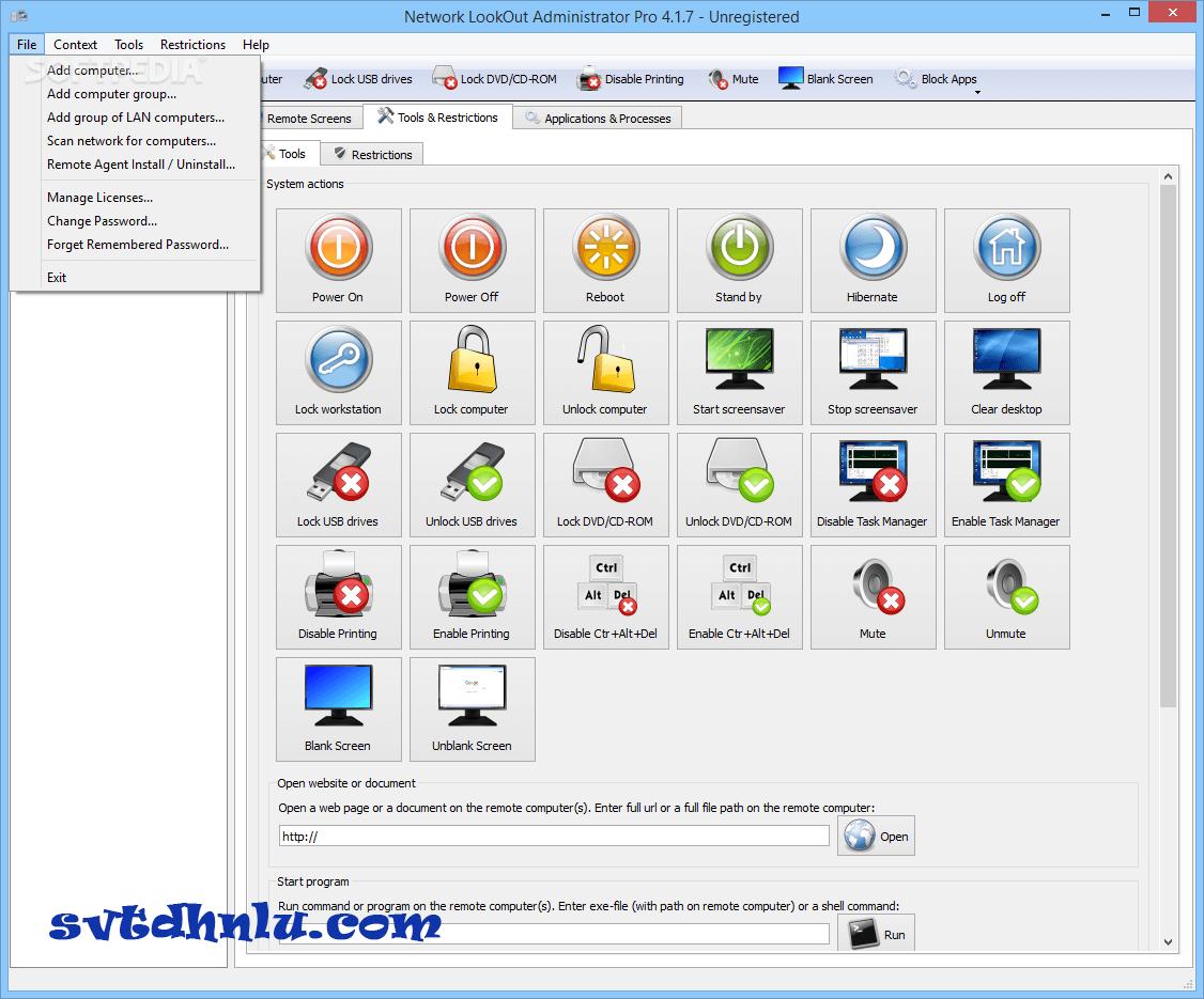 Download Network LookOut Administrator Pro mới nhất 2019 miễn phí - Theo dõi máy tính từ xa