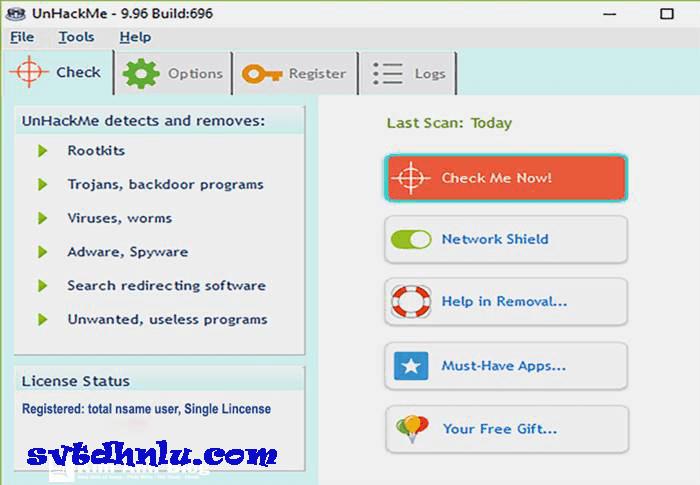Download UnHackMe full crack - Công cụ diệt virus, sửa chữa bảo vệ máy tính