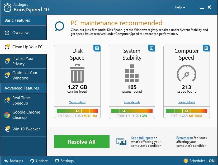 Download Auslogics BoostSpeed Full Active version 10.0.23.0