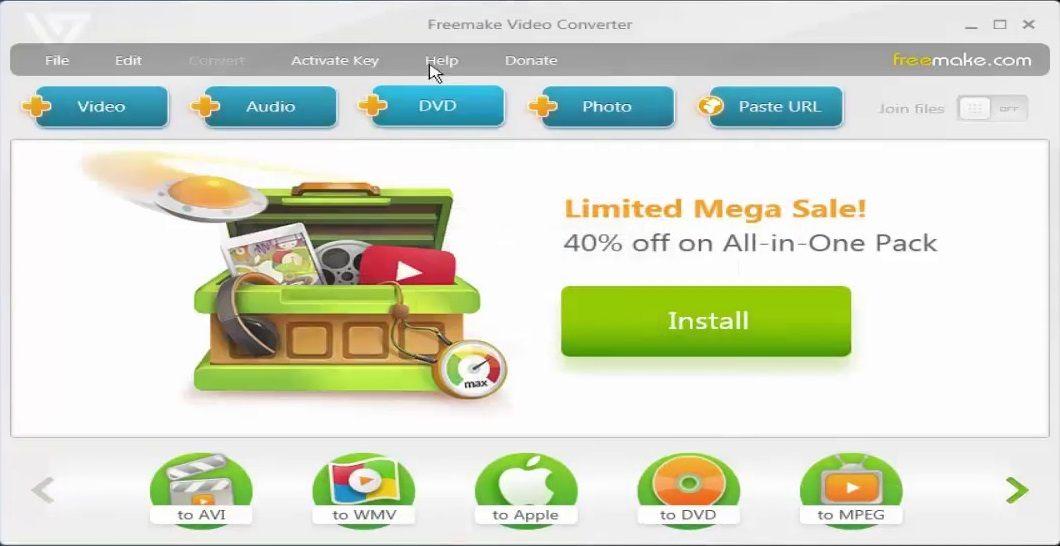 Download Freemake Video Converter Gold 4.1.10.197