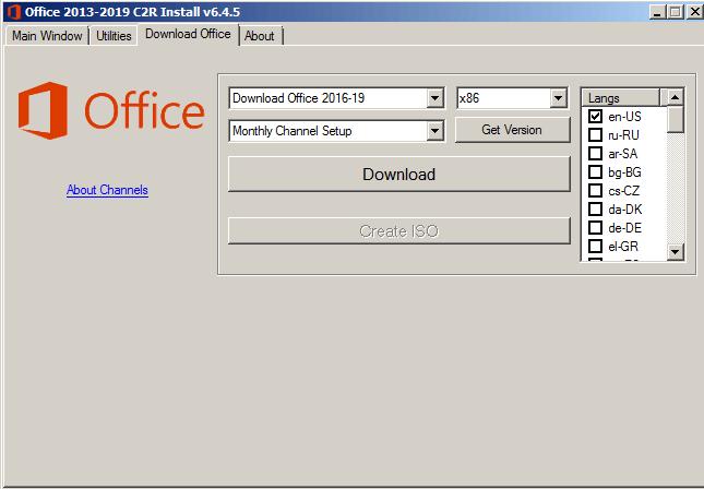 Office 2013-2019 C2R Install chuan