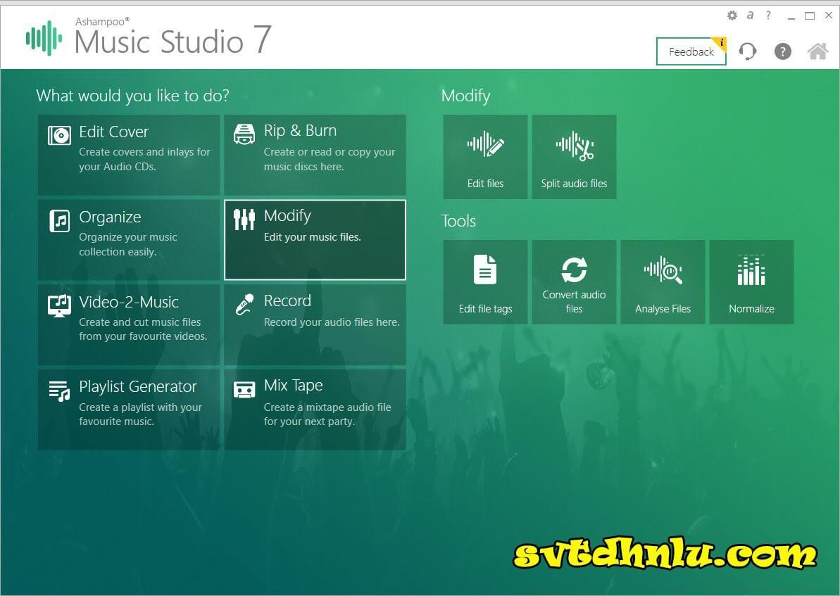 Download Ashampoo Music Studio Full Crack Mới Nhất