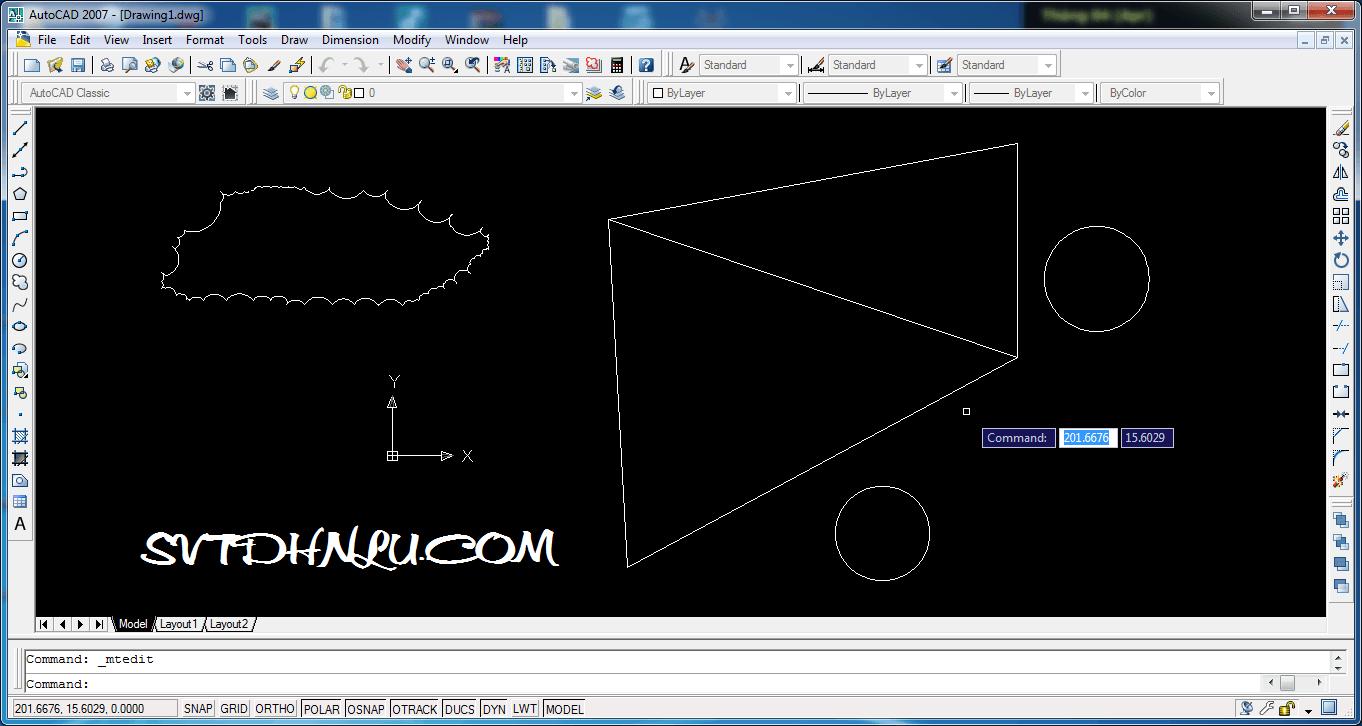 Giao dien phan mem AutoCad 2007