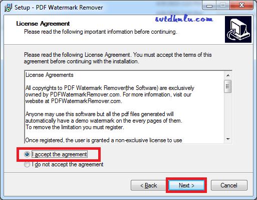 Cài đặt phần mềm xóa chữ kỹ chìm Watermark Remover