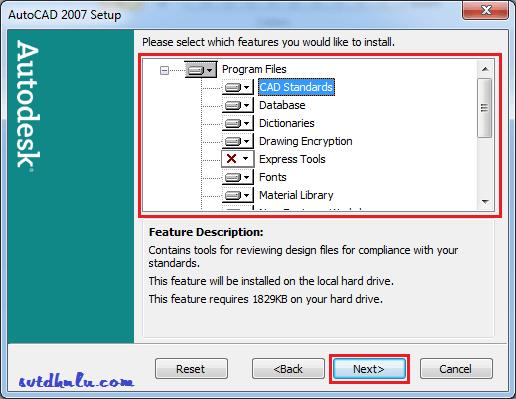 huong dan cai phần mềm AutoCAD 2007